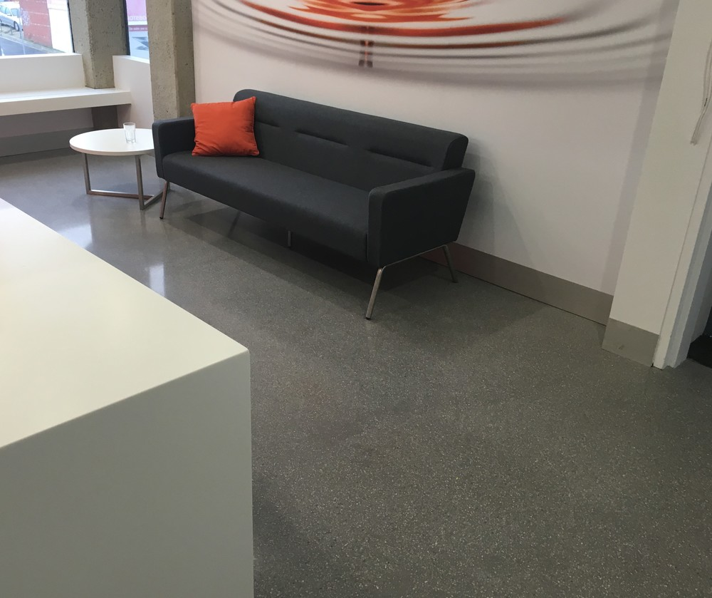 Architect's Lobby / colour: concrete with 6mm 'dove' aggregate