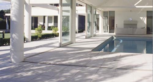 Exterior Concrete Tile Paver Ivory