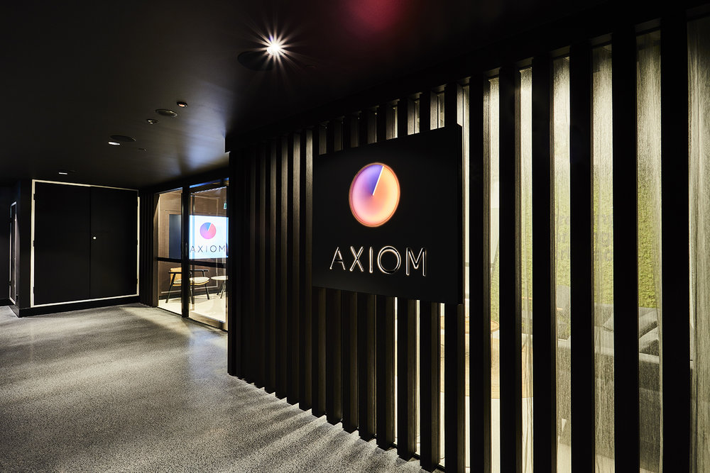 Axiom Workplaces Sydney / Alabaster with 6mm Marble and Ebony with 6mm Black Granite.
