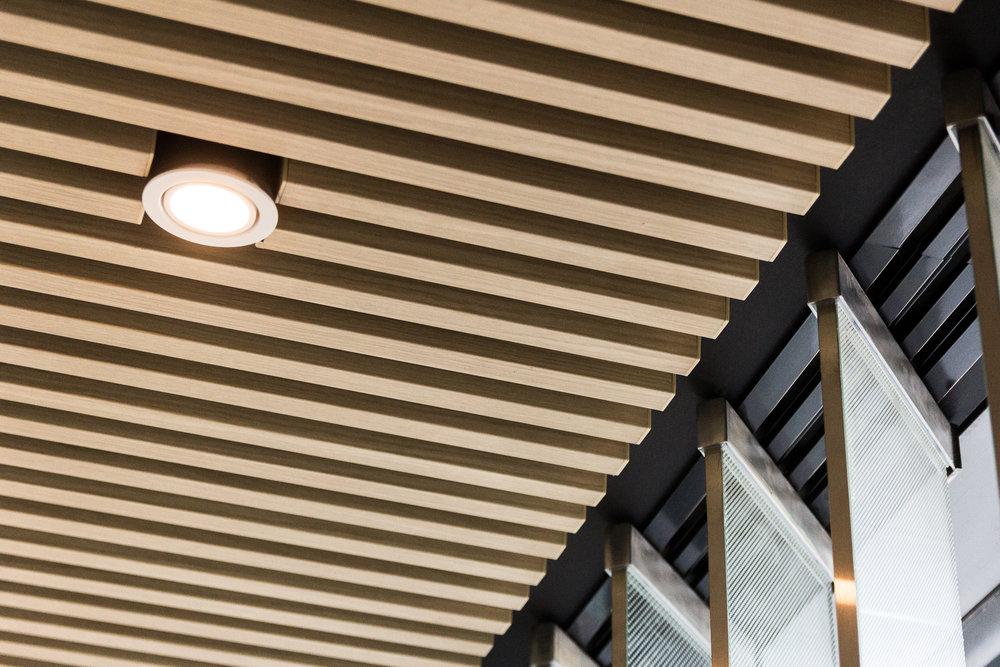 Kabebari direct fix cladding to ceiling.
