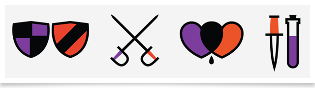Romeo and Juliet icons by Kyle Tezak
