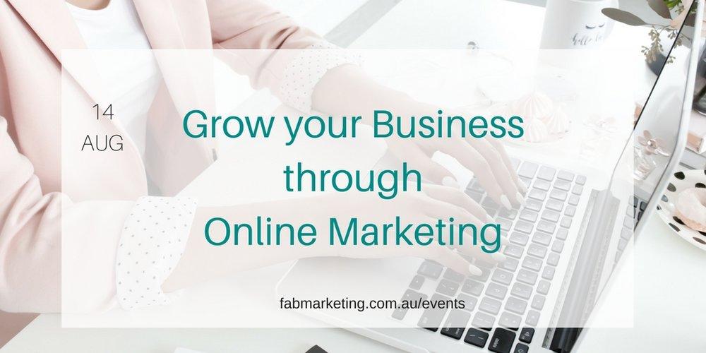 Grow you business through online marketing workshop