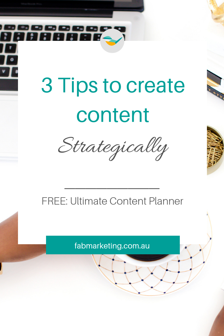 3 tips to create content strategically