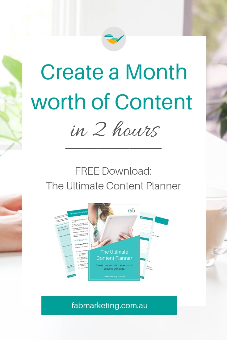 How to create a month-worth of Content in 2 hours