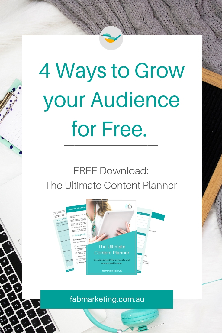 4 Ways to Grow your Audience for Free.jpg