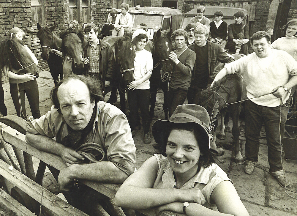 Walter and Caroline LLoyd. Duckworth Farm, Shawforth 1968