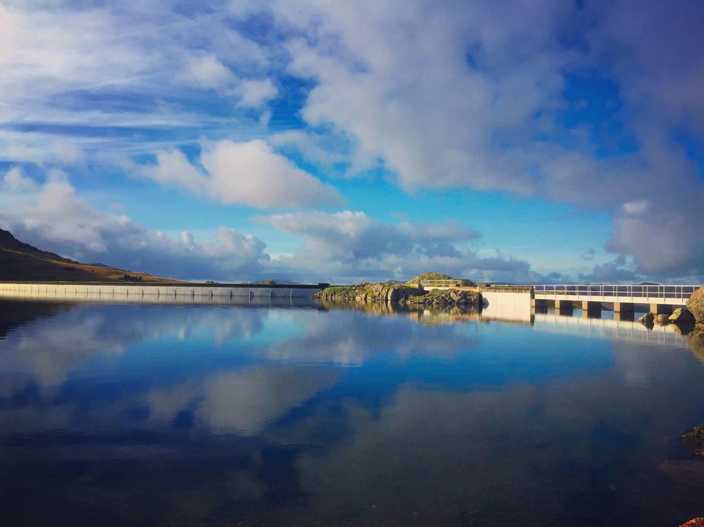 Seathwaite Reservoir weir