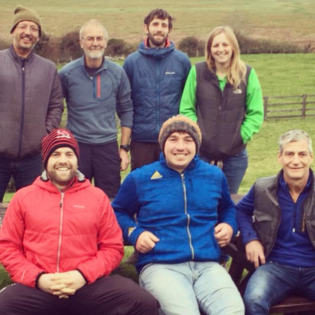 From Left to Right (back row) Tom LLoyd, John Mason, Jack, Liz (front row) Stu, Oli and Ian.