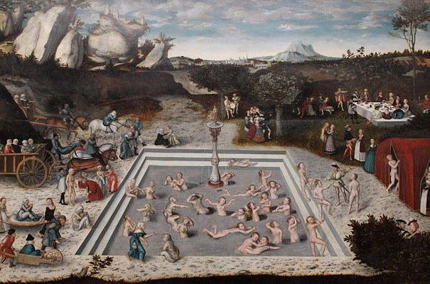 'DER JUNGBRUNNEN', 1546,VON LUKAS CRANACH DEM ÄLTEREN