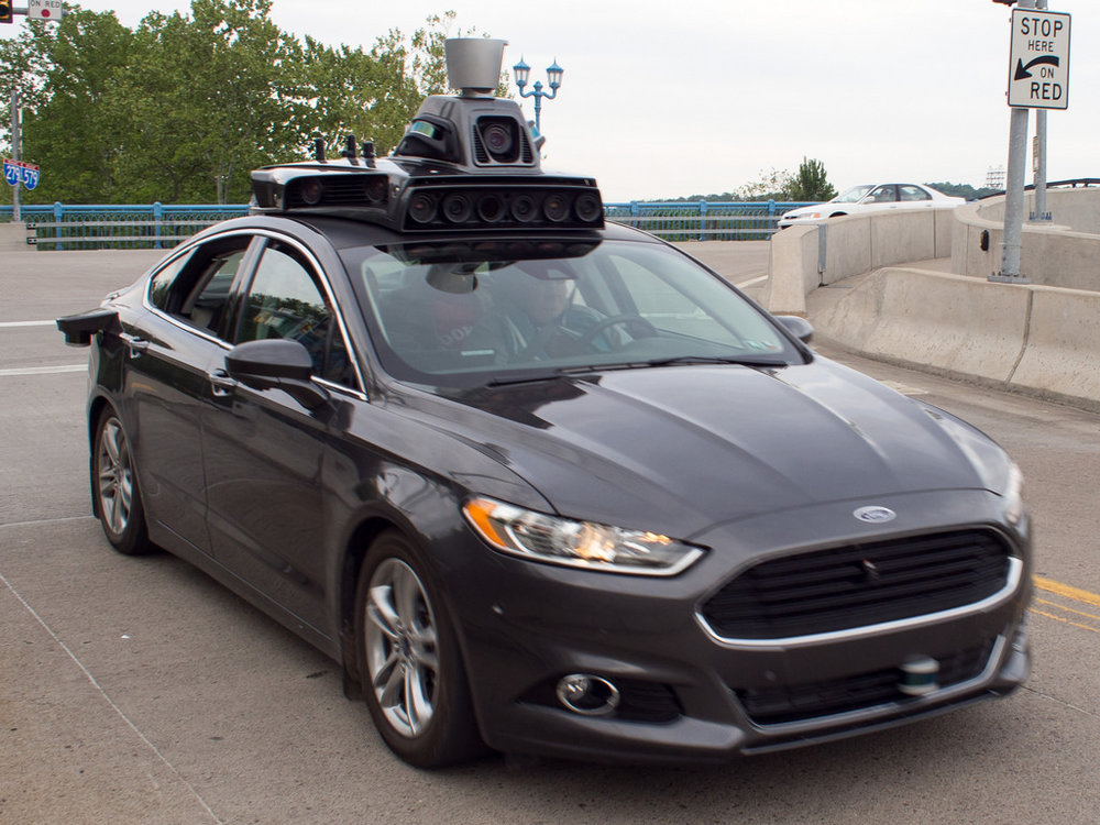 Uber's self-driving car.