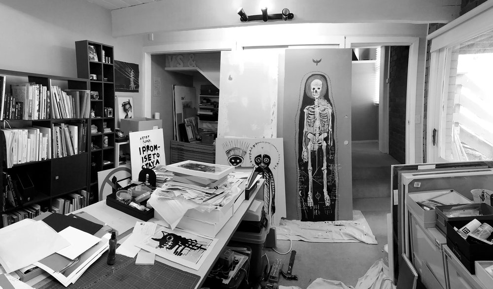 I've been working at a larger scale this year. The studio needs some organising to cope.
