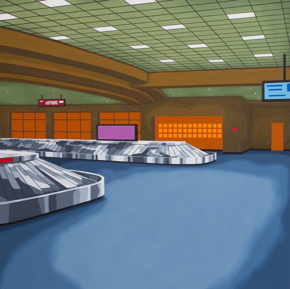 Baggage Claim #3, 2011, Oil on Canvas, 52 X 52 inches