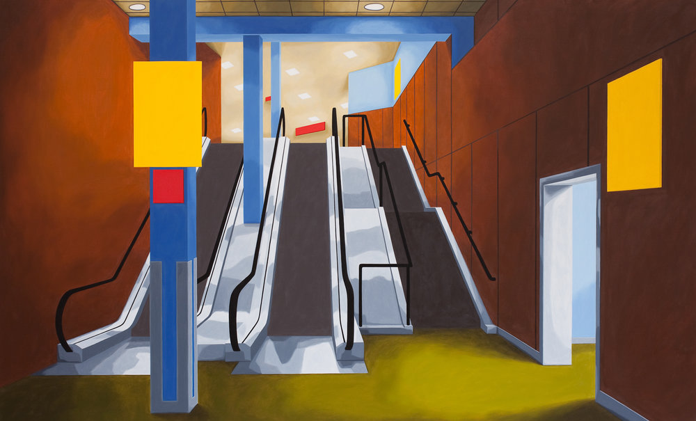 Terminal 1, 2011, Oil on Canvas, 40 X 66 inches