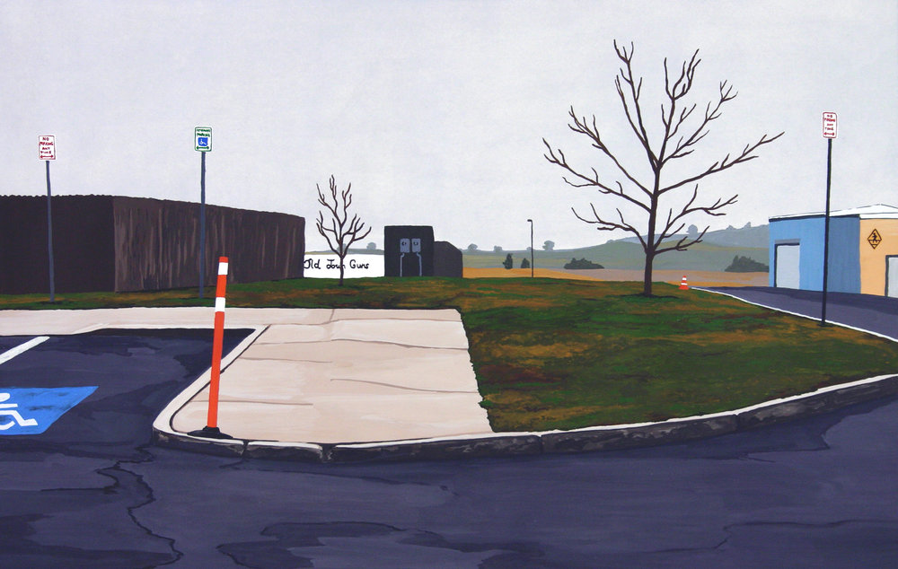 Go West Young Man #2, 2003, Gouache on Paper, 15 X 22 inches