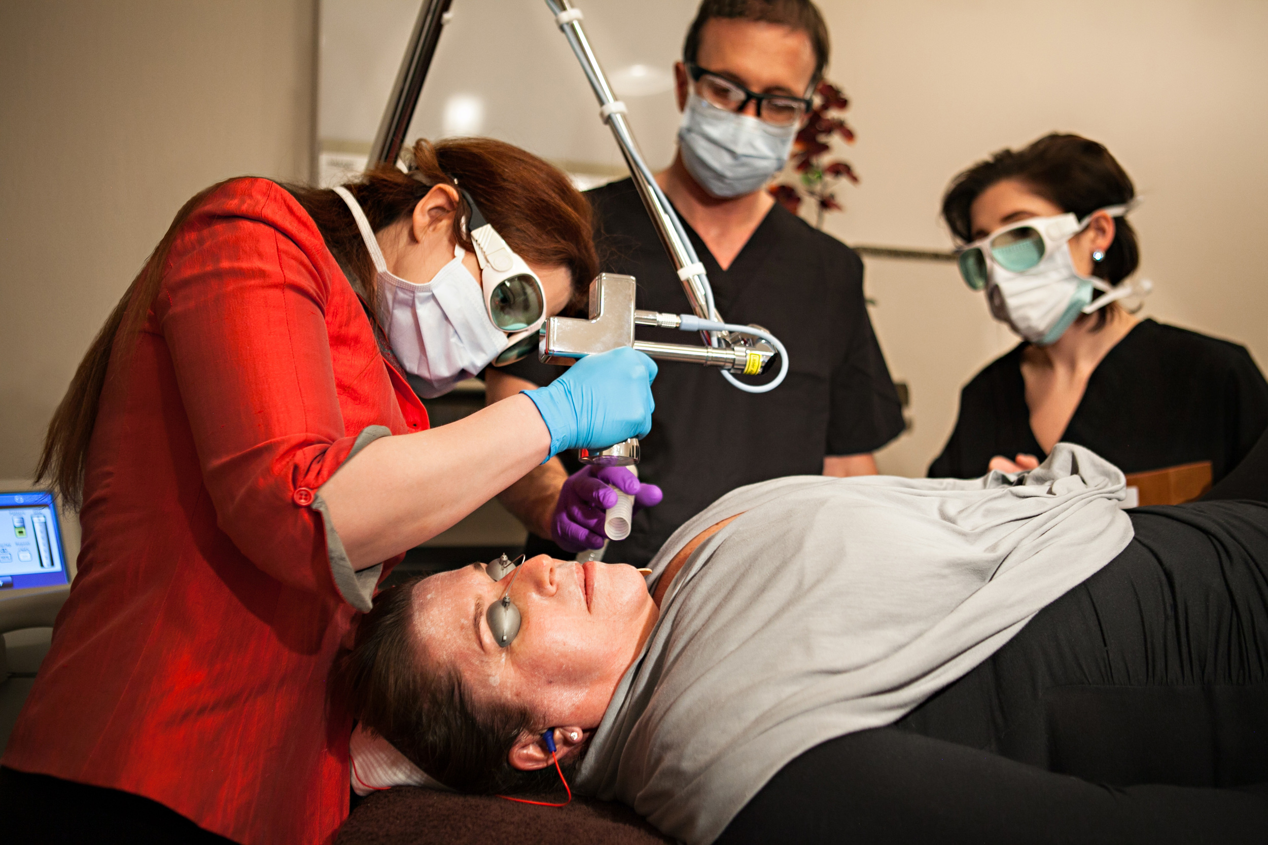 Training Sciton's Erbium:YAG laser, from light MicroLaserPeels to deep resurfacing