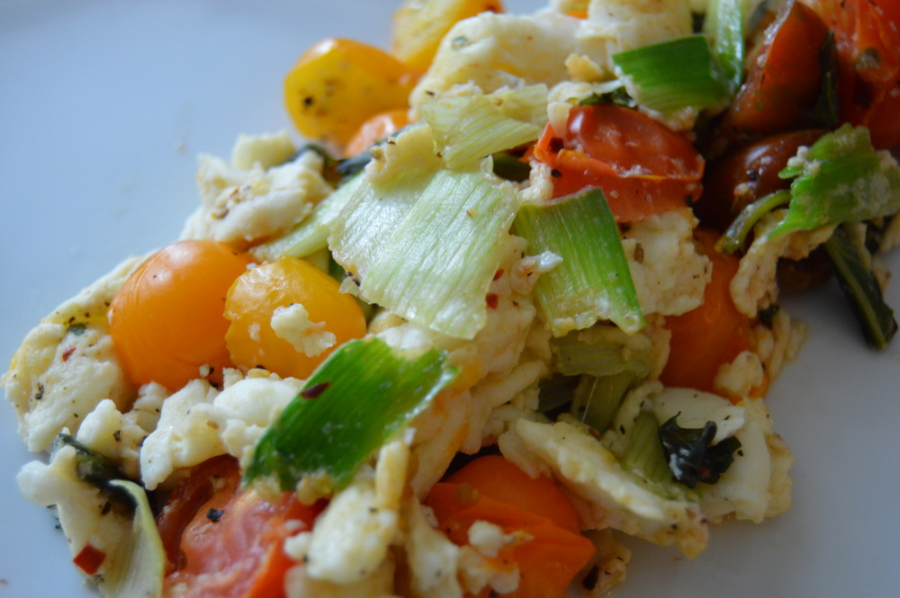 Simple Leek Scramble