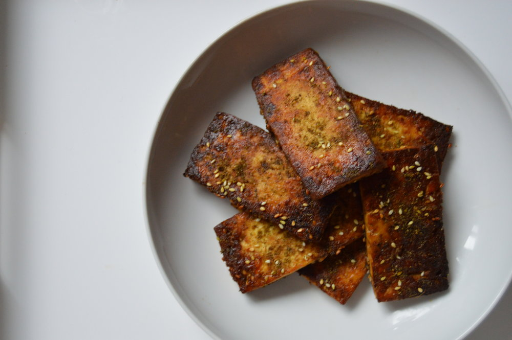 Za'atar Spiced Broiled Tofu