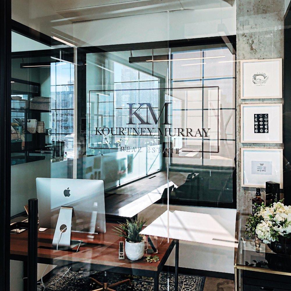 KM's SWANKY, NEW OFFICE