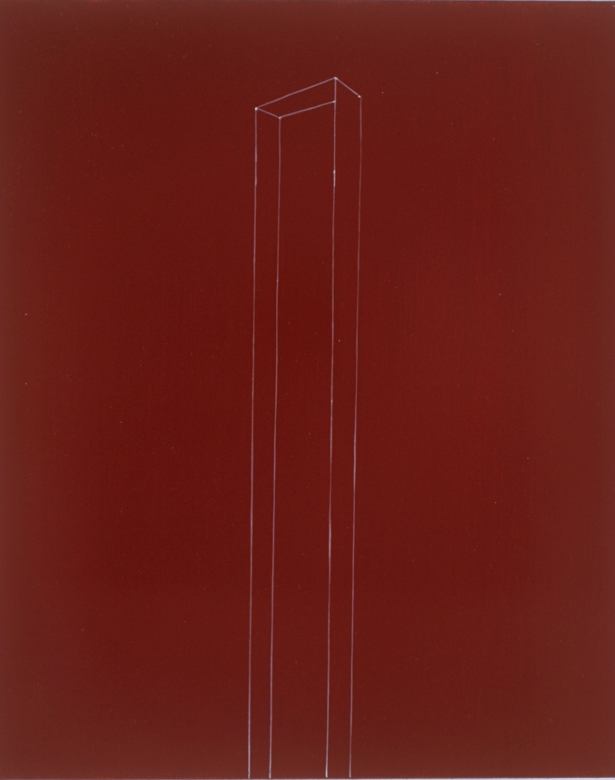 Box Figure on Wine Red