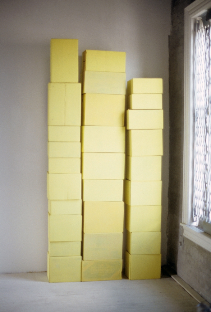 Yellow Stacked Boxes