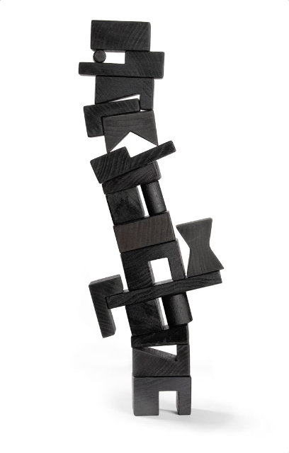 Cockeyed-optimist Stackable Blocks - Black