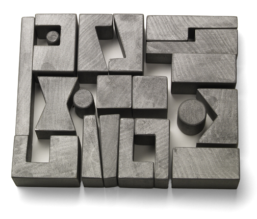 Cockeyed-optimist Stackable Blocks - Silver