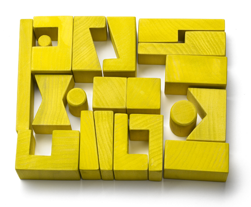 Cockeyed-optimist Stackable Blocks - Yellow