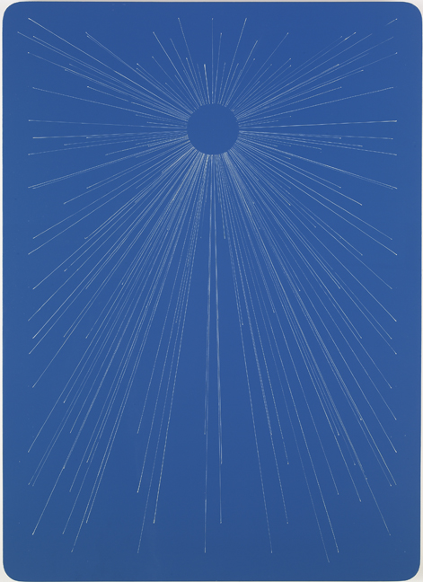 Blue Starburst Playing Card