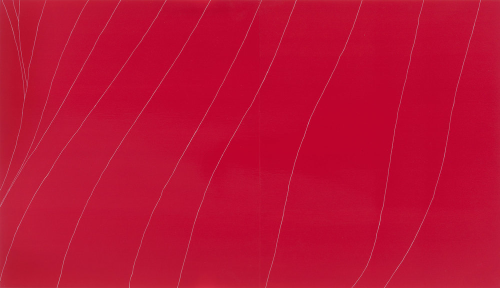 Gahan Wilson Red Flag, oil and enamel on panel, 45 x 78 inches