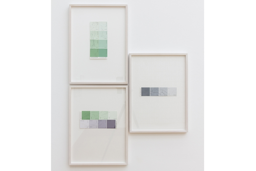 "Installation view, 2015,"" Papier/Paper V - Zeichnung (Drawing)"", Clement & Schneider, Bonn, Germany"