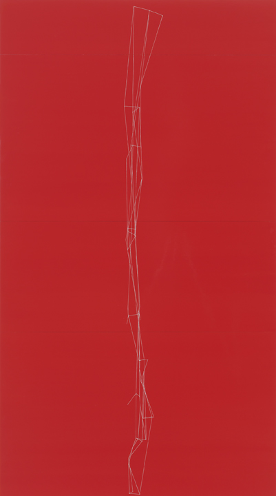 - Painting acquired by The Phillips Collection, Washington, D.C.Red Rabbit, 2011oil and industrial enamel on panels90 x 50 in228.6 x 127 cm
