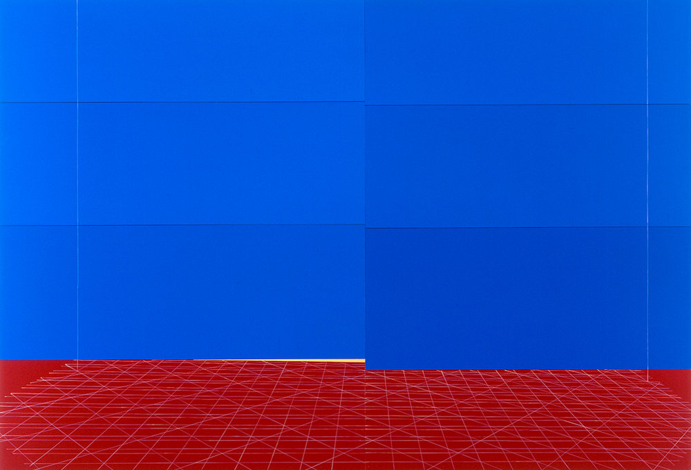 Kate Shepherd, 2004, Bazooka-Joe-Red-Yellow-Blue-Frayed-Carpet.jpg