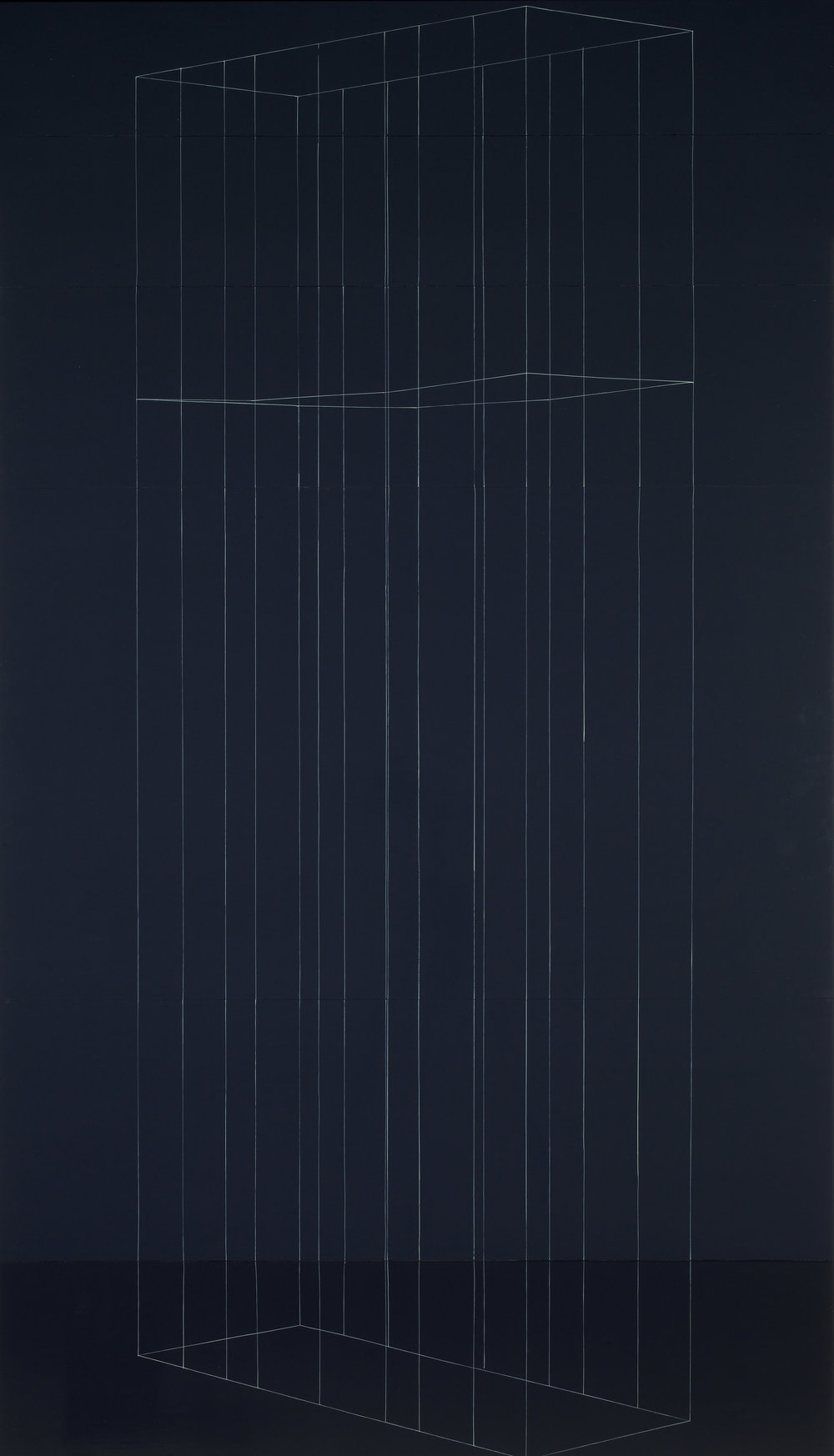 Kate Shepherd, 2003_Tall Black Cage with One Sagging Shelf.jpg