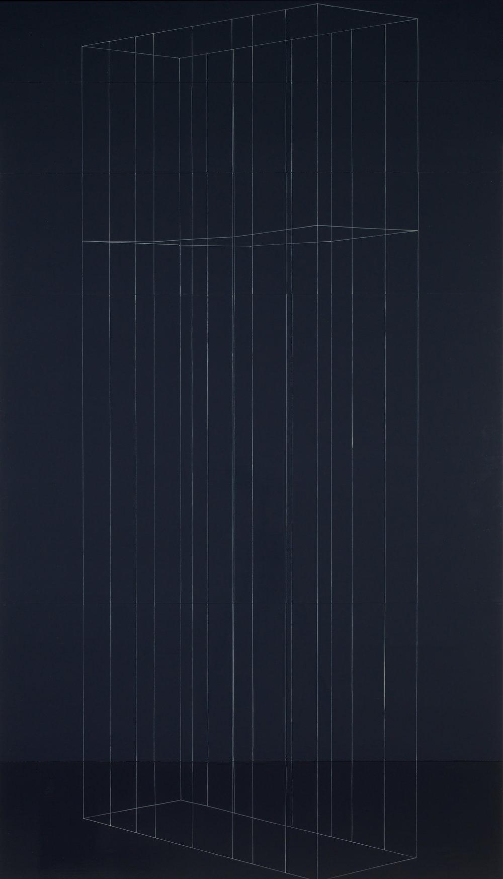 Kate Shepherd, 2003_Tall Black Cage with One Sagging Shelf.jpg
