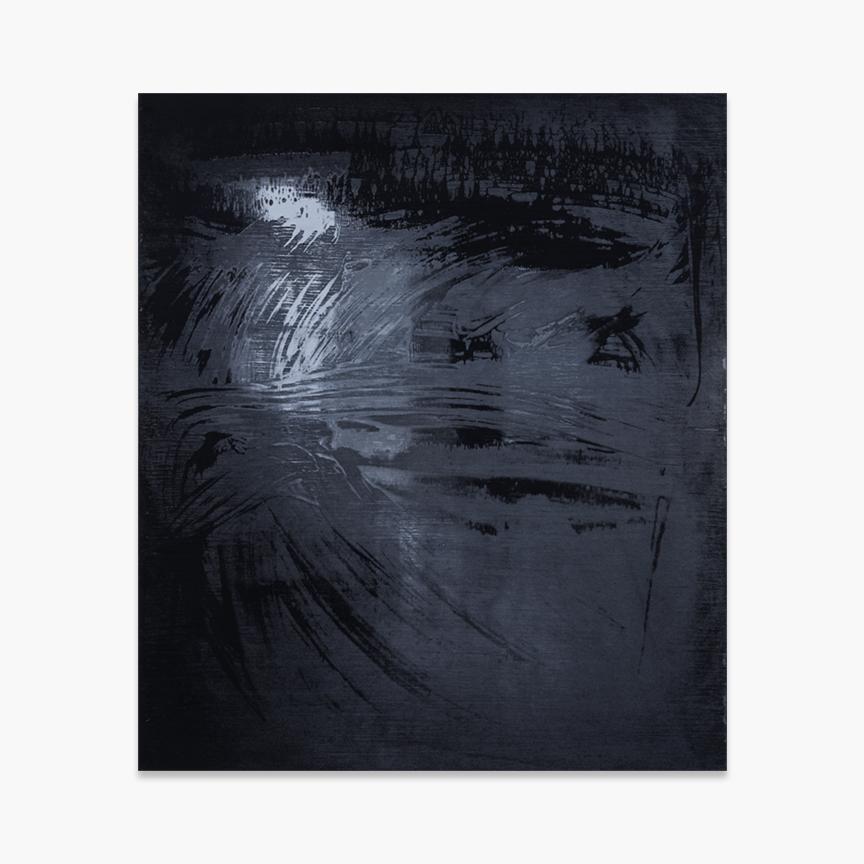 Norwegian Death Rock , 2018, screen printed enamel and enamel on panel