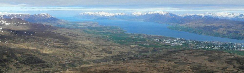 Eyjafjörður and Akureyri seen from Súlur ©Ævar Arnfjörð Bjarmason