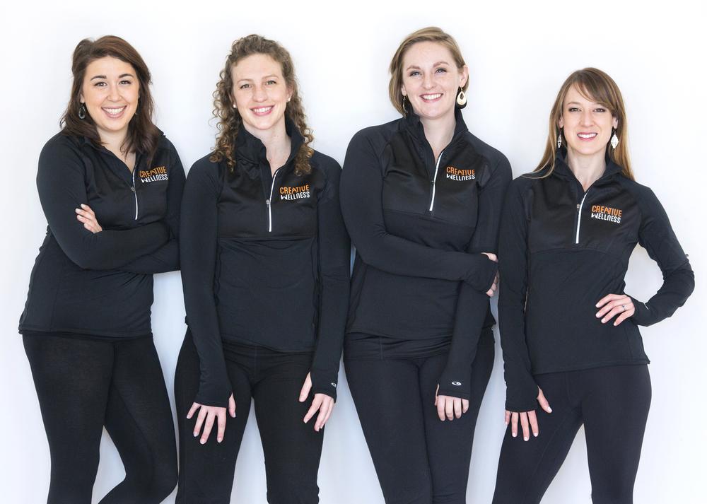The Creative Wellness Team: Michelle Maurer, Erika Haaland, Alison Plott & Shannon Ferrante.