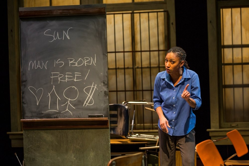 """Marti Gobel in Next Act Theatre's """"No Child."""" (Photo by Timothy Moder)"""