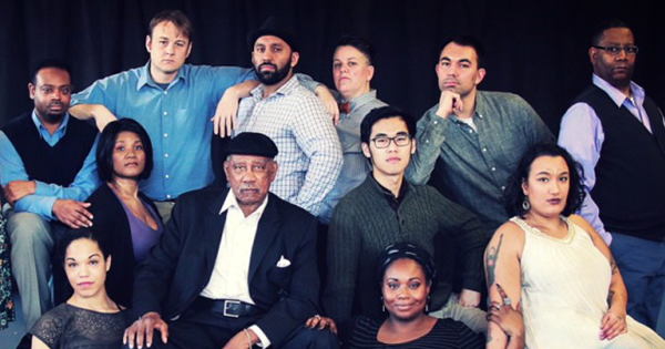 "Cast members of ""You Can't Take It With You"" at Sound Theatre Company. From left to right: Corey Spruill, Ayo Tushinde, Laura Steele, Chris Shea, Tee Dennard, Gurvinder Singh, Laurie Lynch, Aaron Jin, Shermona Mitchell, Andrew Weiss, Neve Mazique and Bob Williams."