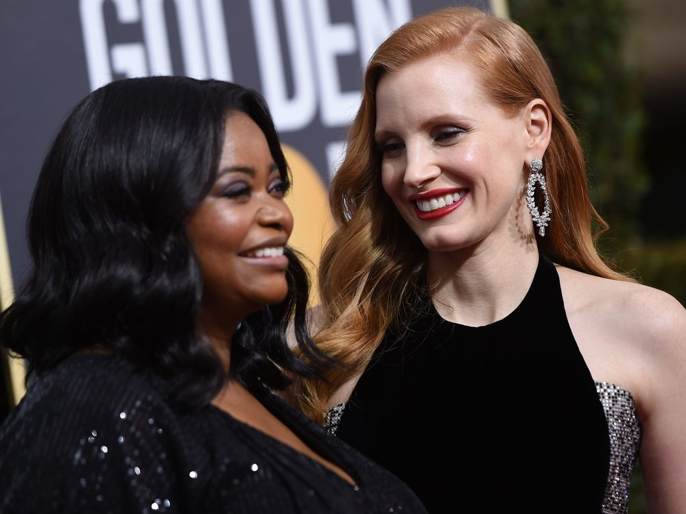 Octavia Spencer and Jessica Chastain. VALERIE MACON/AFP/Getty Images