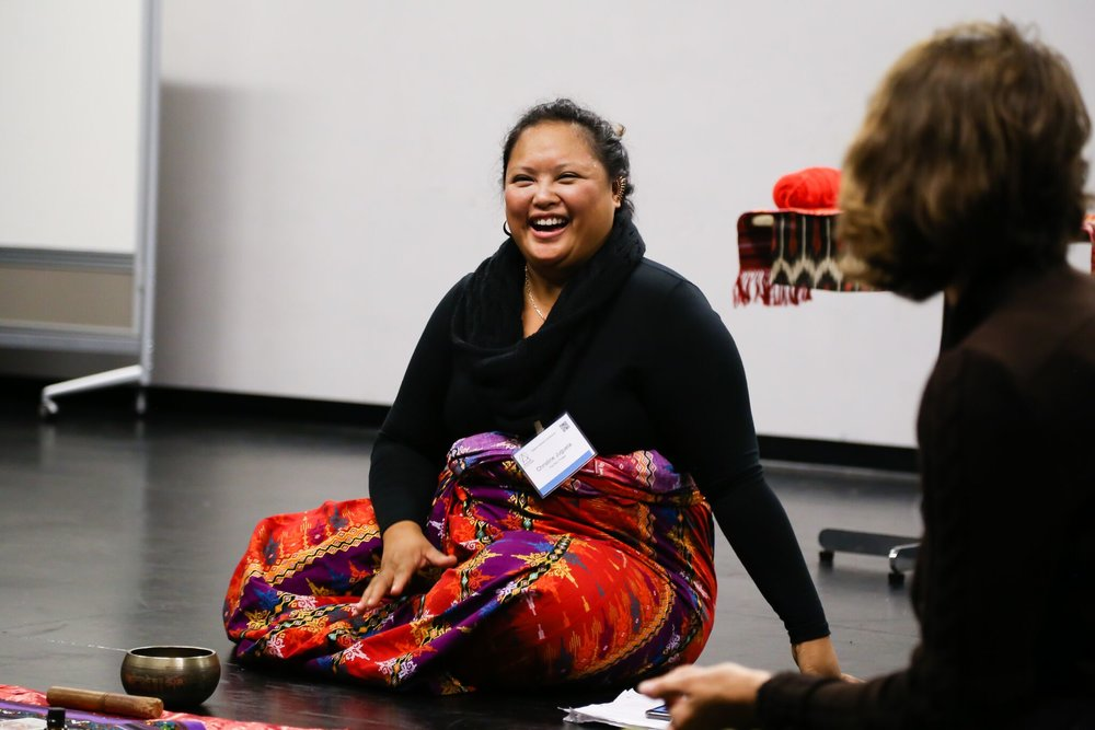 "Christine Jugueta , ""The Red Thread: Sacred theatre, Indigenous Wisdom, and the Goddess Movement as Tools for Shifting the Leadership Paradigm"""