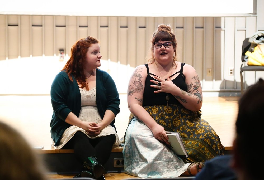 "Sage Martin  (left) and  Maggie Rogers  (right) ""Fat Discrimination in the American Theatre"""