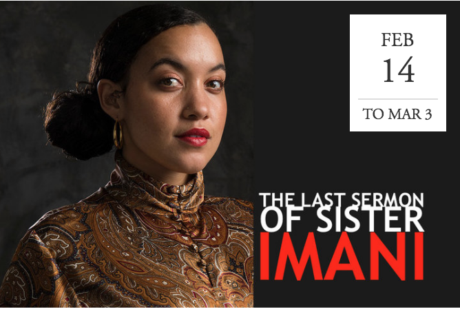 """The Last Sermon of Sister Imani"" at TheatreFirst - Berkeley, CA"