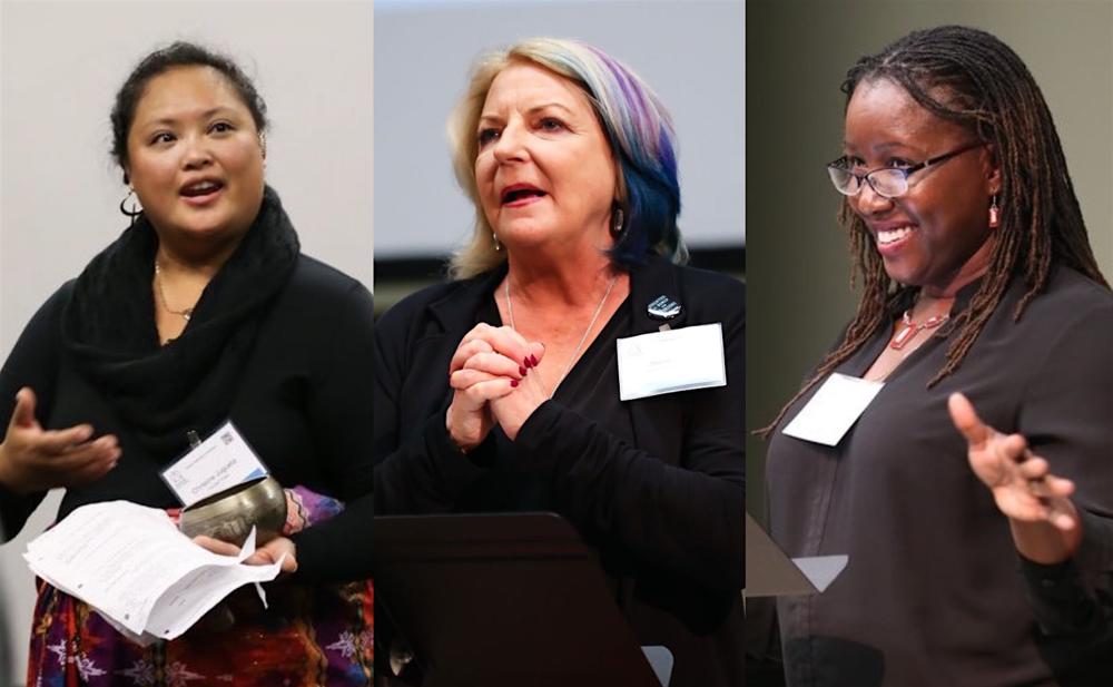 Speakers at Statera's 2018 conference: Christine Jugueta, Suzan Fete, and Nataki Garrett. Photos by Malloree Delayne Hill.