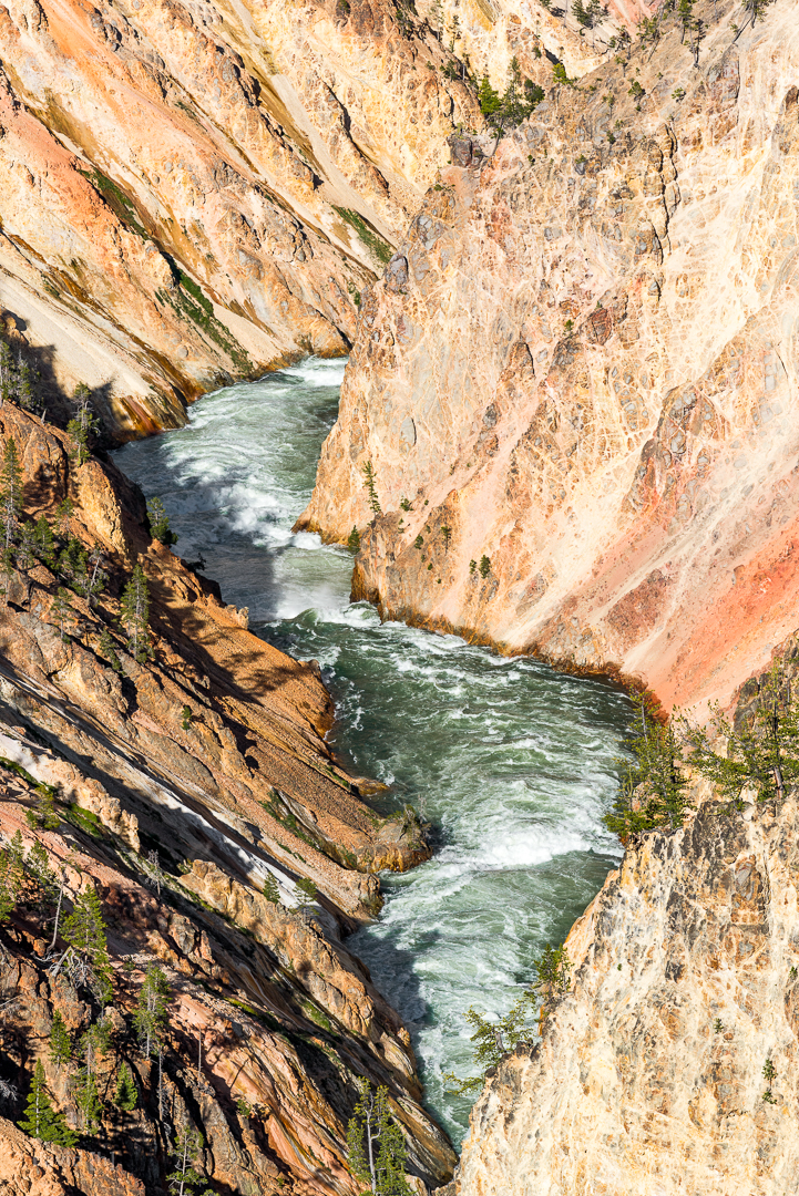 Yellowstone River flowing through the Grand Canyon of the Yellowstone.