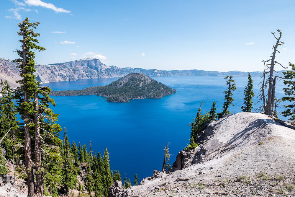 The unmatched cleanliness of Crater Lake makes it shine in an incredible blue.