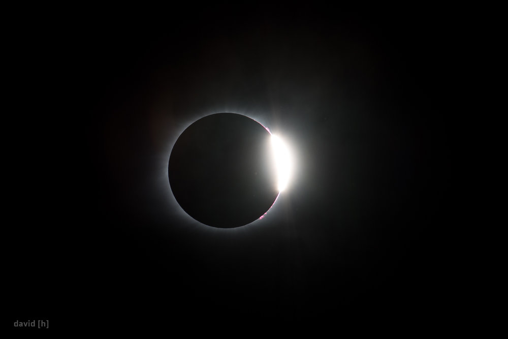The so-called Diamond Ring Effect during the total solar eclipse, 21 August 2017.