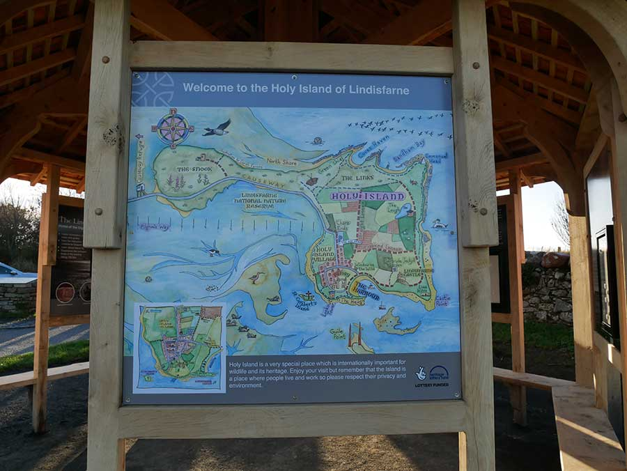 Holy Island map by Sarah Farooqi