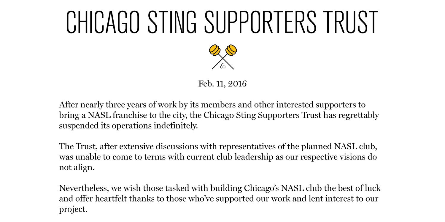 Chicago Sting Supporters Trust