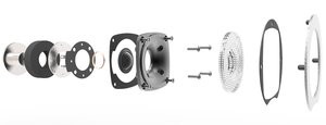 SILK-DOME TWEETER WITH DEEP-SPHEROID CUSTOM WAVEGUIDE